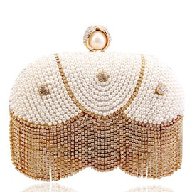 Ericdress Diamante Beaded Clutch