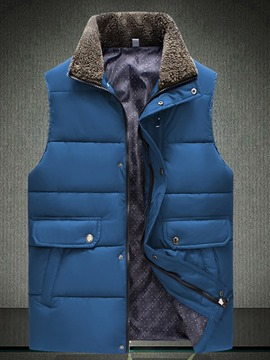 Ericdress Fur Collar Thicken Warm Men's Vest