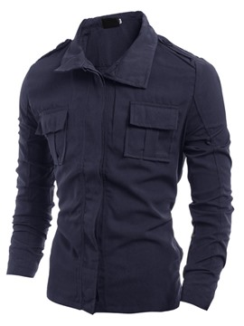 Ericdress Plain Slim Men's Jacket