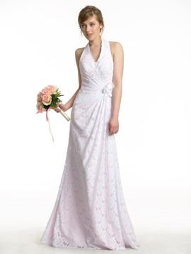 Ericdress Charming Long Lace Bridesmaid Dress