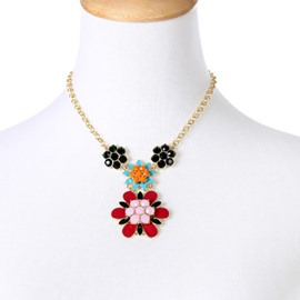 Ericdress Colorful Flower Pendant Necklace