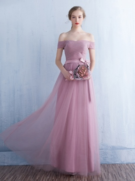 Ericdress Charming Off The Shoulder A Line Bridesmaid Dress