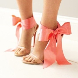 Ericdress Amazing Pink Stiletto Sandals with Bowknot