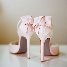 Ericdress Amazing Pink Stiletto Sandals with Back Bowknot
