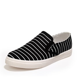 Ericdress Simple Strips Print Men's Canvas Shoes