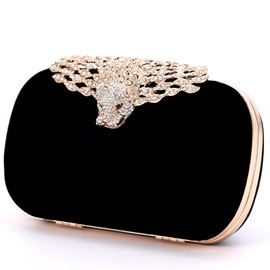 Ericdress Diamante Leopard Clutch