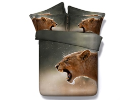 Ericdress Wild Lion Howling Print Bedding Sets