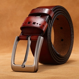 Ericdress Vintage All Match Cowhide Belt For Men