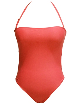 Ericdress Plain Hollow Back Halt Monokini