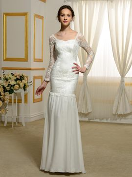 Ericdress High Quality Long Sleeves Mermaid Lace Wedding Dress