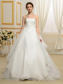 Ericdress High Quality Beading Strapless Wedding Dress