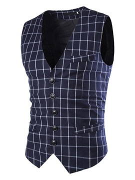 Ericdres Plaid Vogue Men's Vest
