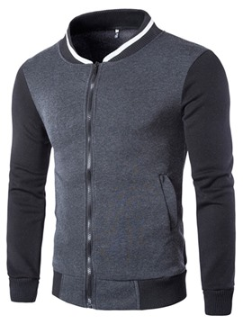 Ericdress Zip Casual Men's Hoodie