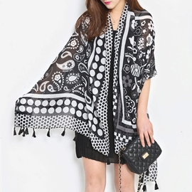 Ericdress Korean Tassel Cotton Scarf
