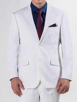 Ericdress White Stylish Men's Suit
