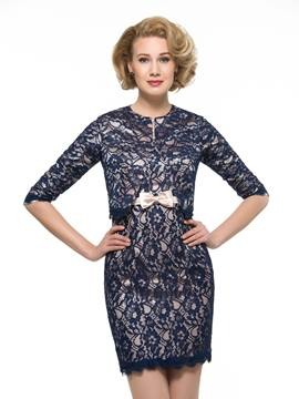 Ericdress Chic Square Lace Short Mother Of The Bride Dress With Jacket