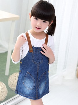 Ericdress Sleeveless Girls Denim Dress