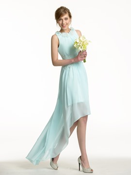 Ericdress Charming Jewel A Line Asymmetry Bridesmaid Dress