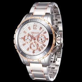 Ericdress Stainless Steel Belt Men's Chronograph Watch