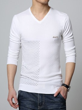 Ericdress Slim V-Neck Thin Men's Knitwear