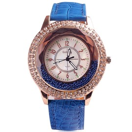 Ericdress Shiny Diamante Quicksand Design Quartz Watch