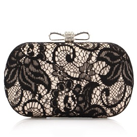 Ericdress Bowknot Lace Decorated Clutch
