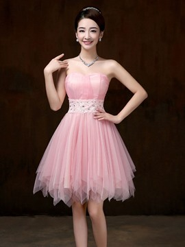 Ericdress Charming Sweetheart Asymmetry Bridesmaid Dress