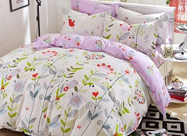 Ericdress Floral Print Kids Bedding Set