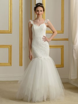 Ericdress High Quality Straps Lace Mermaid Wedding Dress