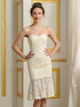 Ericdress High Quality Sweetheart Sheath Lace Reception Wedding Dress