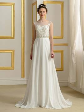 Ericdress Beautiful Bateau A Line Wedding Dress