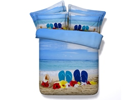 Ericdress Beach Scenery Print 3D Bedding Sets