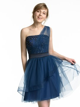 Ericdress Charming One Shoulder A Line Short Bridesmaid Dress