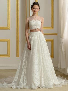 Ericdress Fancy Two- Pieces Lace Wedding Dress