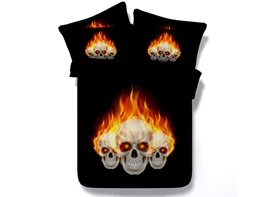 Ericdress Wickedness Fire Skull Print 3D Bedding Sets
