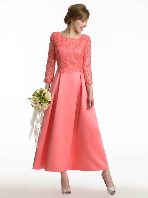 Ericdress Beautiful 3/4 Length Sleeves Lace A Line Bridesmaid Dress