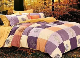 Ericdress Baroque Plaid Cotton Bedding Sets