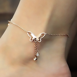 Ericdress Temperament Butterfly Tassel Anklet