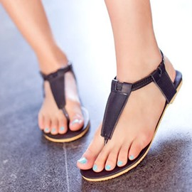 Ericdress Lovely T Strap Flat Sandals