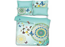 Ericdress Flying Butterfly Print Cotton Bedding Sets