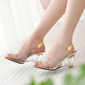 Ericdress Transparent Wedge Sandals