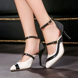 Ericdress Patchwork Point Toe Stiletto Sandals