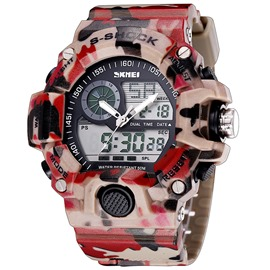 Ericdress Cool Double Movement Men's Sports Watch