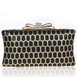 Ericdress Geometric Hollow Rhinestone Clutch