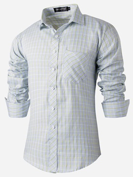 Ericdress Plaid Long Sleeve Casual Men's Shirt