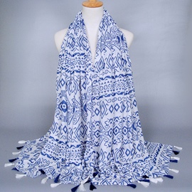 Ericdress Chinese Style Geometric Tassel Scarf