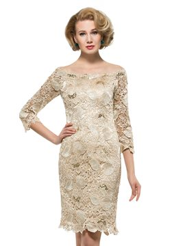 Ericdress Beautiful Off The Shoulder Lace Mother Of The Bride Dress