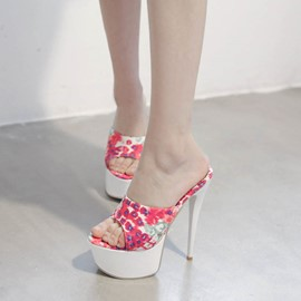 Ericdress Floral Print Slippers