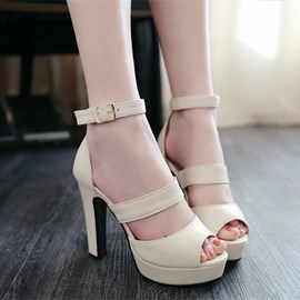 Ericdress Popular Peep Toe Chunky Sandals