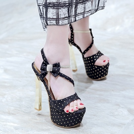 Ericdress Pretty Bowtie Stiletto Sandals